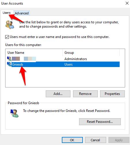 1607977355 157 Comment changer votre nom dutilisateur sur Windows 10