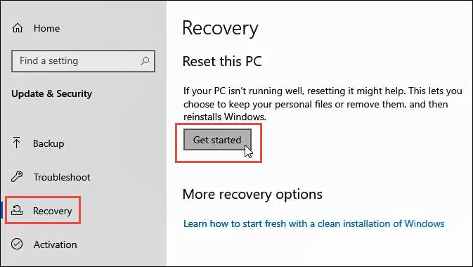 1608011999 169 3 facons deffacer et de reinstaller Windows 10