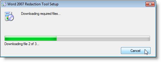 Téléchargement des fichiers requis