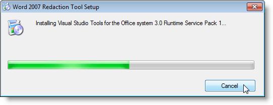 Installation de Visual Studio Tools pour Office