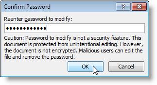 Confirmation de votre mot de passe