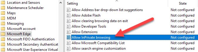 1608014258 808 Desactiver ou desactiver la navigation InPrivate dans Internet Explorer et