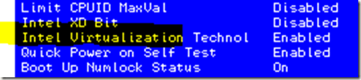 BIOS de virtualisation compatible