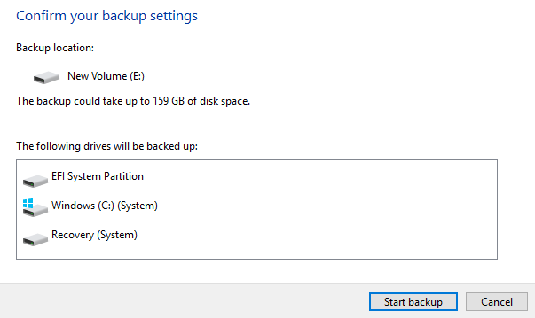 1608101926 254 Creer une sauvegarde dimage systeme Windows 10