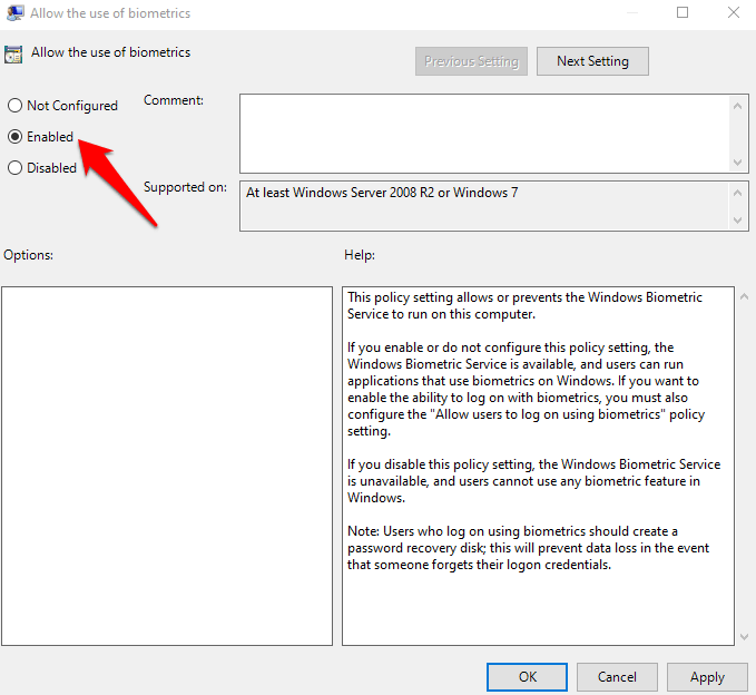 1608173139 353 Comment reparer lempreinte digitale Windows Hello ne fonctionne pas dans