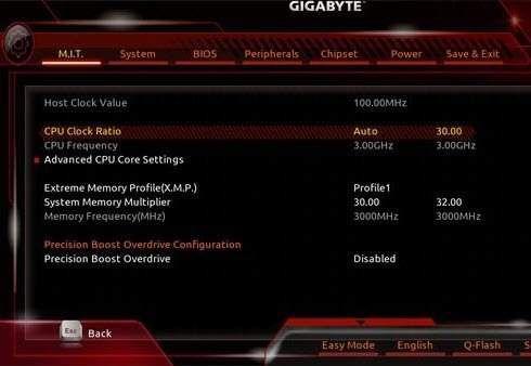 1608236249 490 Comment overclocker votre processeur Ryzen 5 1500x carte mere Gigabyte