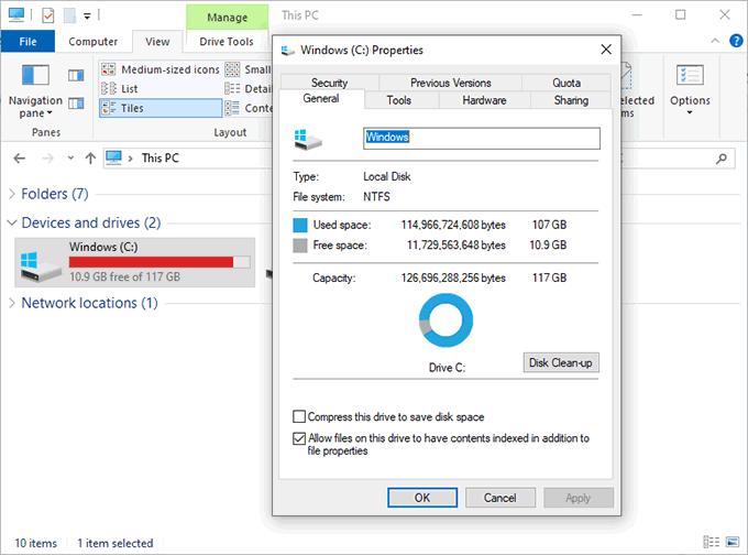 1608261348 422 Comment desactiver le stockage reserve sur Windows 10