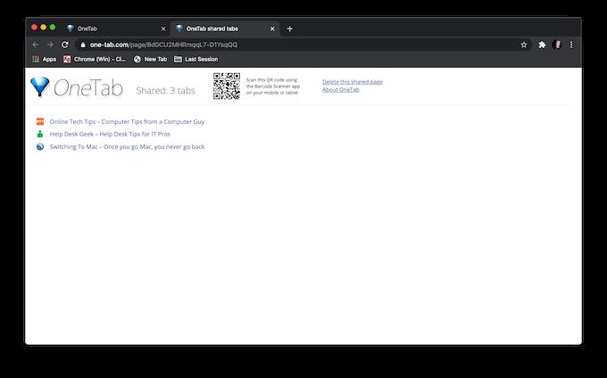 1608281579 664 Comment enregistrer des onglets dans le navigateur Chrome