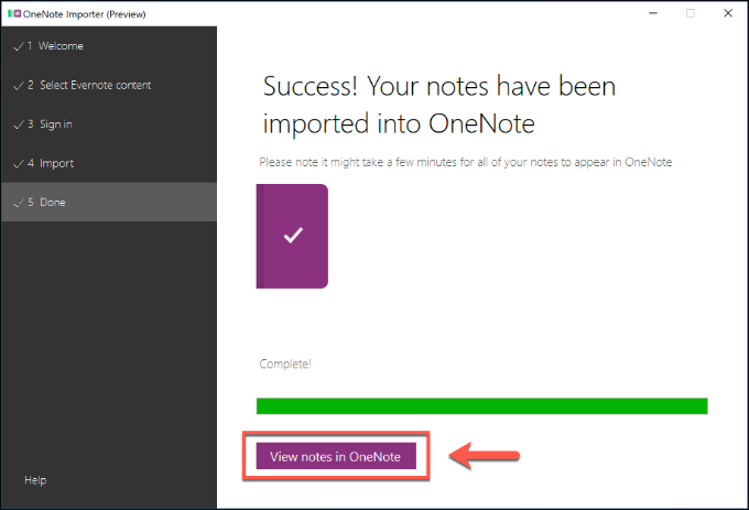 1608453247 52 Comment migrer vos notes Evernote vers Microsoft OneNote