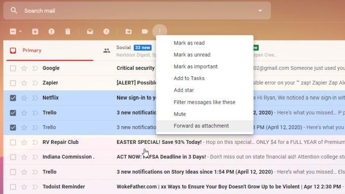 1608527899 436 Comment transferer plusieurs e mails dans Gmail