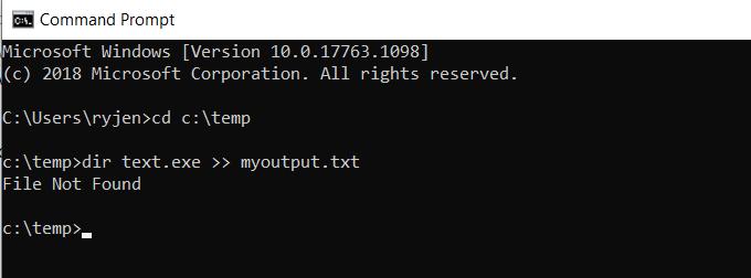 1608625641 308 Rediriger la sortie de la ligne de commande Windows vers