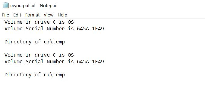 1608625641 30 Rediriger la sortie de la ligne de commande Windows vers