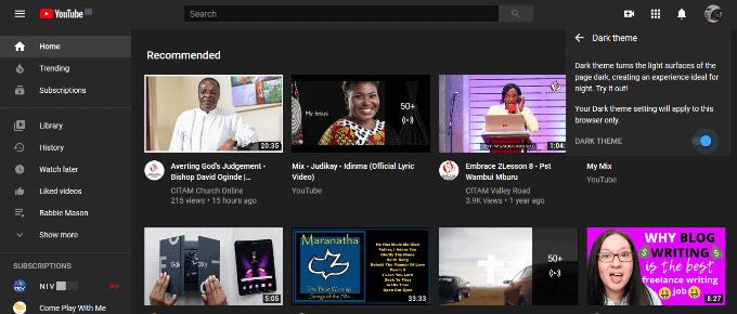 1608878163 332 Comment activer le mode sombre de YouTube sur le Web