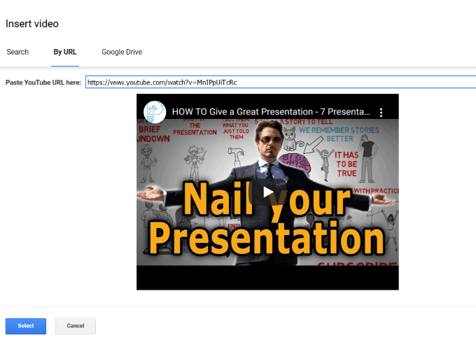1609059604 122 Comment integrer une video dans Google Slides