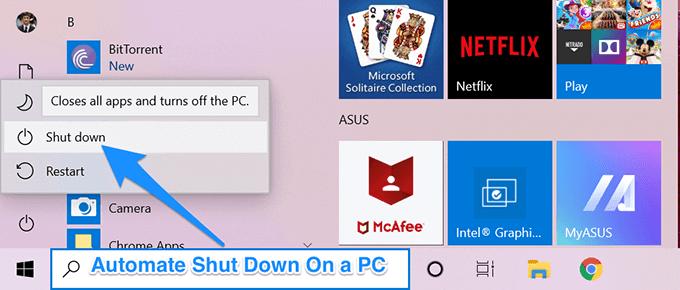 Comment arreter automatiquement un ordinateur Windows