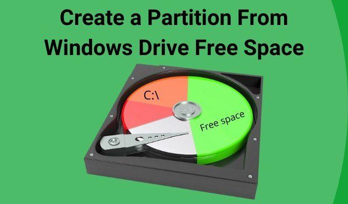 Comment créer une partition à partir de l'espace libre du lecteur Windows