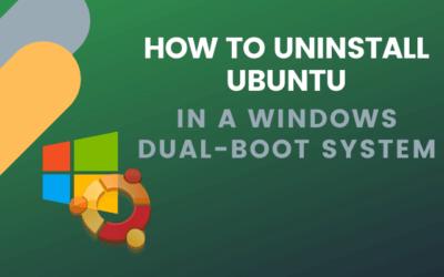 Comment désinstaller Ubuntu dans un système Windows 10 à double démarrage