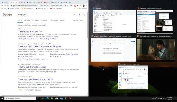 Comment diviser lecran dans Windows 10