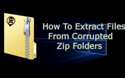 Comment extraire des fichiers à partir de dossiers Zip corrompus
