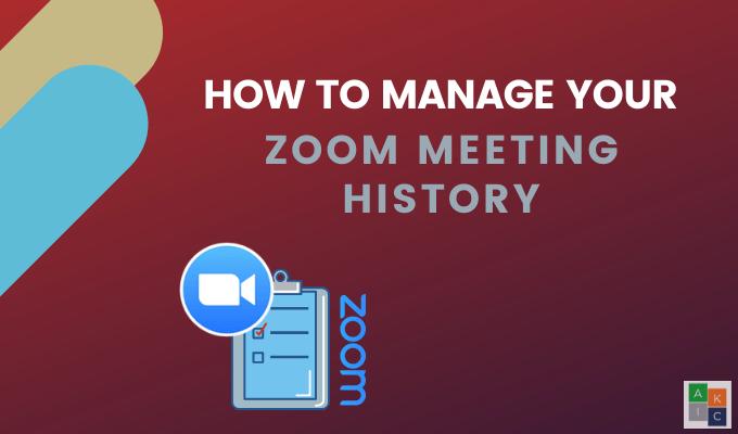 Comment gérer l'historique de vos enregistrements Zoom