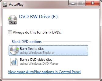 Comment graver des disques sous Windows 7810