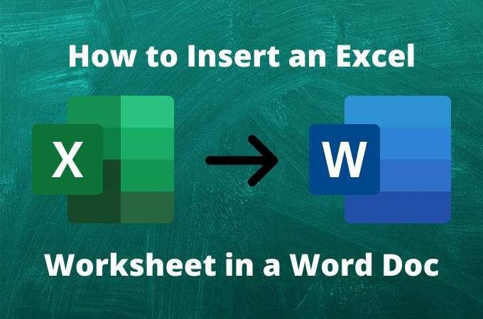 Comment insérer une feuille de calcul Excel dans un document Word