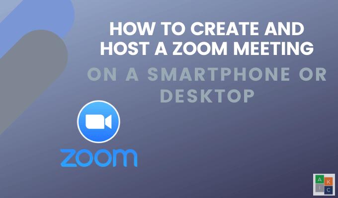 Comment organiser une reunion Zoom Cloud sur un smartphone ou