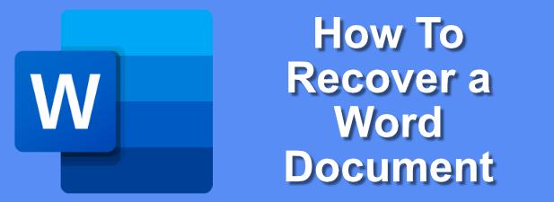 Comment recuperer un document Word