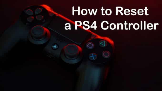 Comment réinitialiser un contrôleur PS4