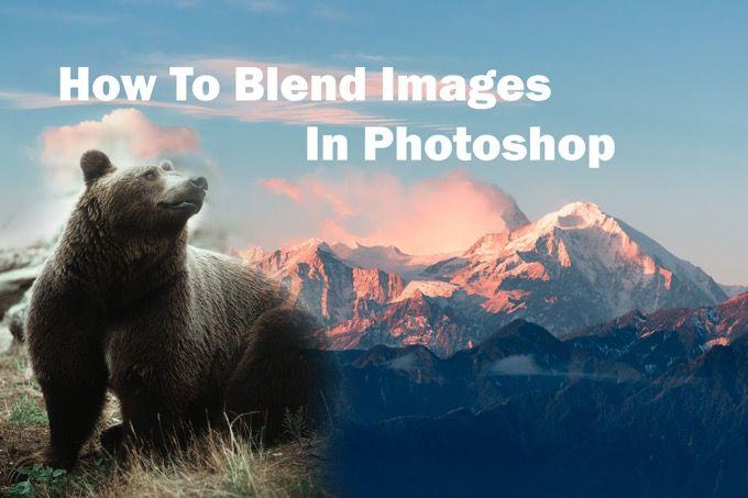Comment se fondre dans Photoshop