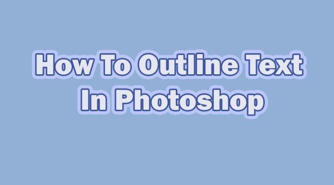 Comment tracer le texte dans Photoshop