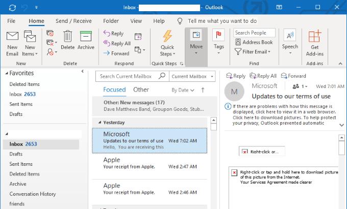 Comment transférer automatiquement un e-mail dans Outlook 2019