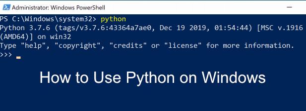 Comment utiliser Python sur Windows
