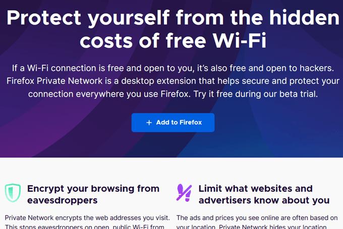 Comment utiliser le reseau prive Firefox pour vous proteger en