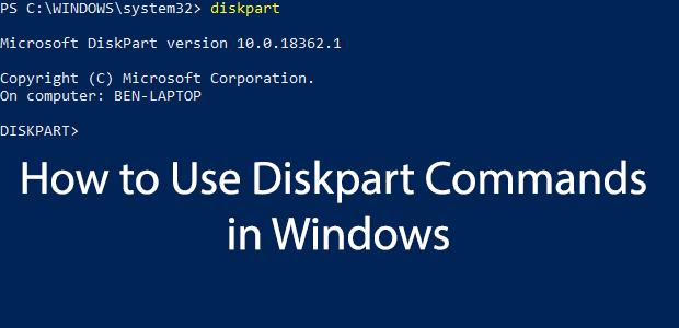 Comment utiliser lutilitaire DiskPart sous Windows