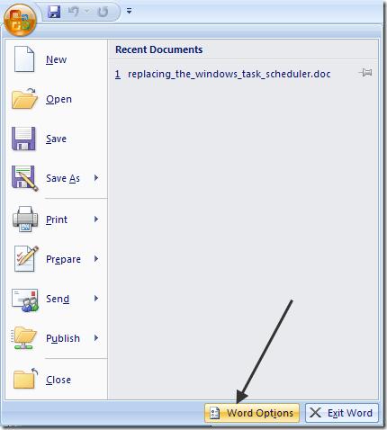correcteur orthographique Outlook 2007