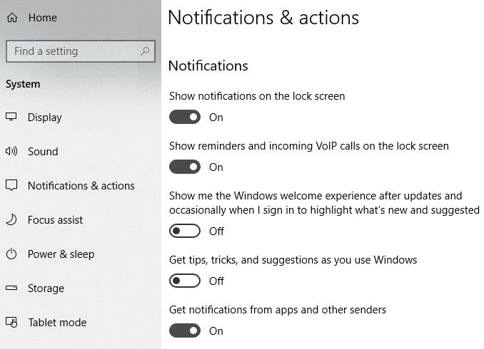 Empêcher les notifications contextuelles d'apparaître sur votre bureau Windows
