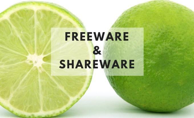 Freeware contre Shareware Quelle est la difference