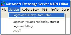 éditeur de mapi du serveur Microsoft Exchange