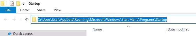 Le dossier de demarrage de Windows 10 ne fonctionne pas
