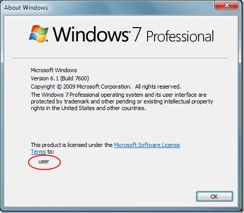 À propos de Windows 7