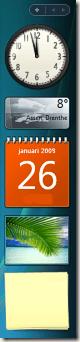 Barre latérale de Windows Vista
