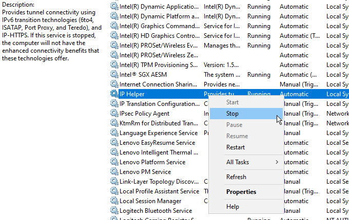 Quest ce quIphlpsvc dans Windows 10 et est il sur