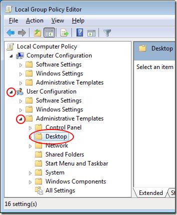 Supprimer lassistant de nettoyage du bureau de Windows 7