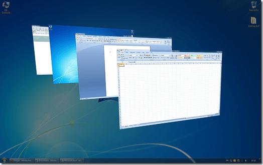 Windows 7 Aero Desktop et Windows XP