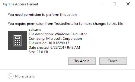 Windows 7810 Comment supprimer des fichiers proteges par TrustedInstaller