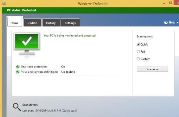 Windows Defender contre Security Essentials contre Safety Scanner
