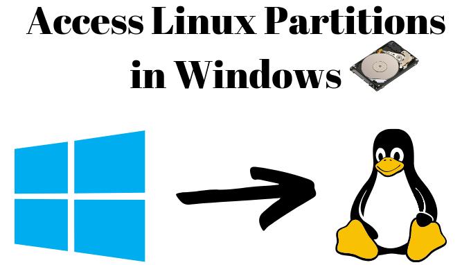 Comment accéder aux partitions Linux sous Windows