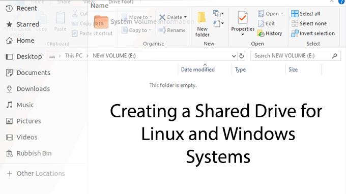 Comment créer un disque de stockage partagé pour les systèmes à double démarrage